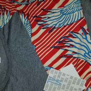 Lularoe randy Raglan t Americana Collection